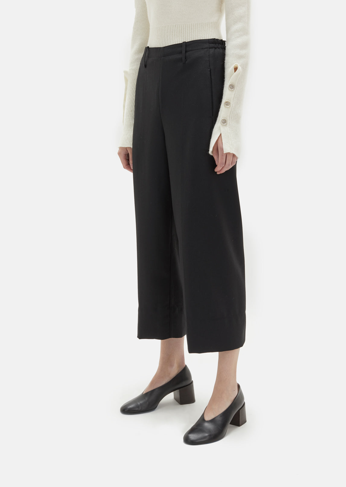 Wool Serge Cropped Pant
