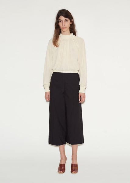 Cotton Wideleg Trousers