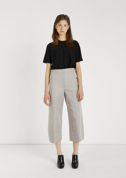 Cotton Linen Cropped Pants