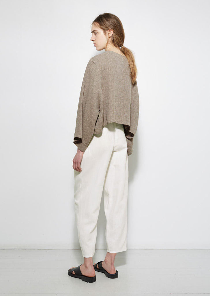Dušan Pleated Linen Trouser La Garconne