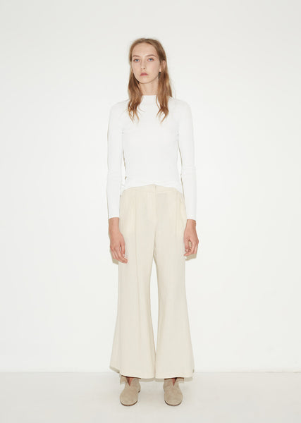 Linen Flared Trousers