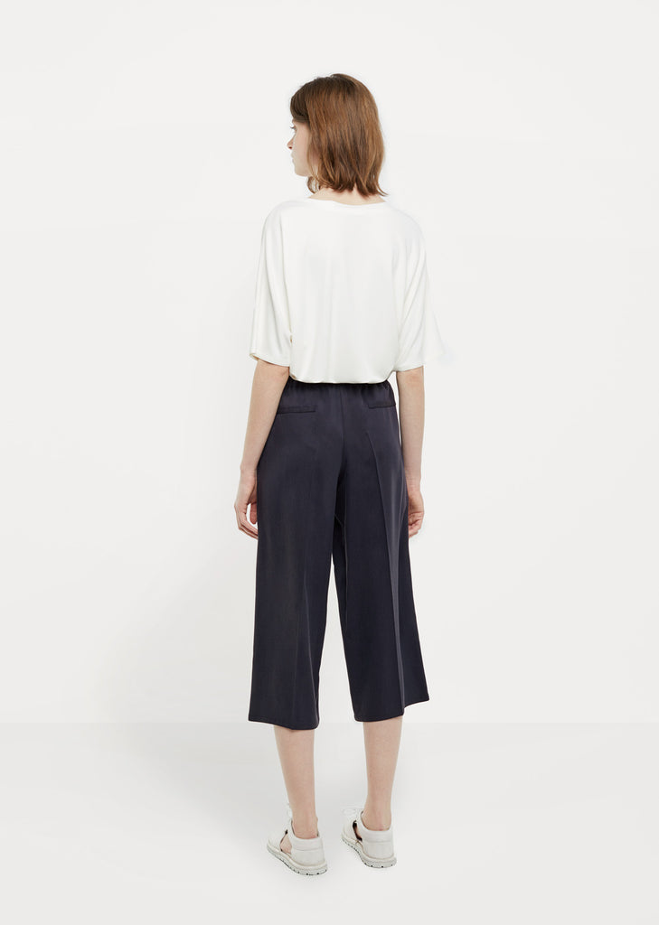 Silk Cropped Trouser