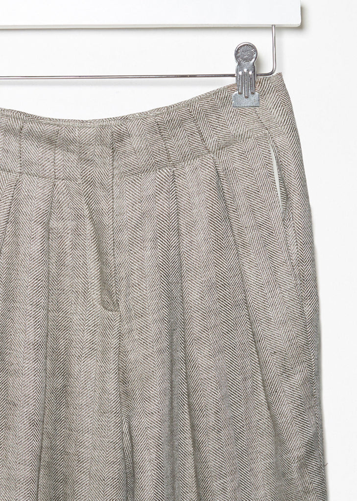 Paneled Herringbone Trouser