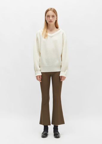 Twill Flared Pant
