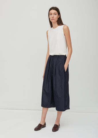 Washed Taffeta Loose Pants
