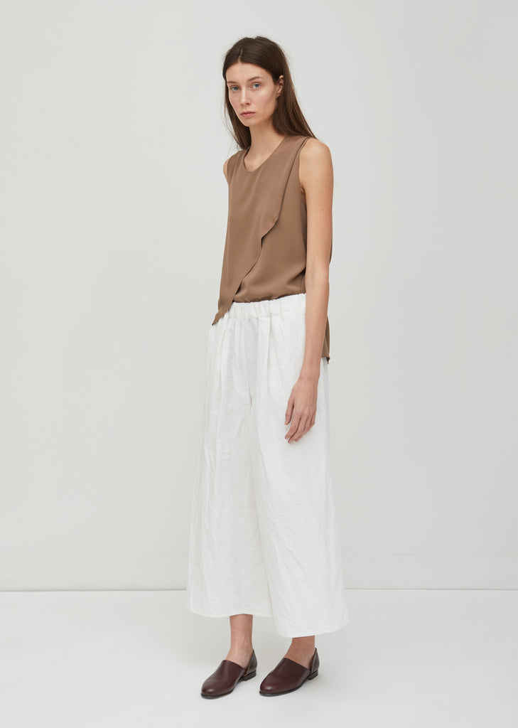 Cotton Wide Leg Pants