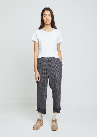Gingham Wool Pants