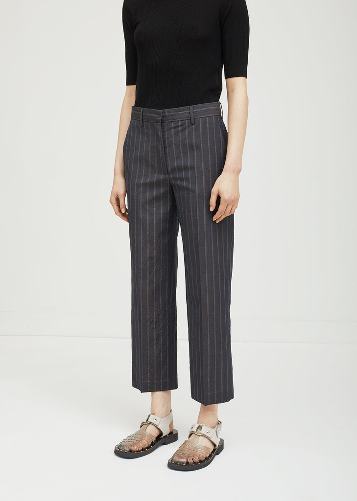 Striped Wool Trousers