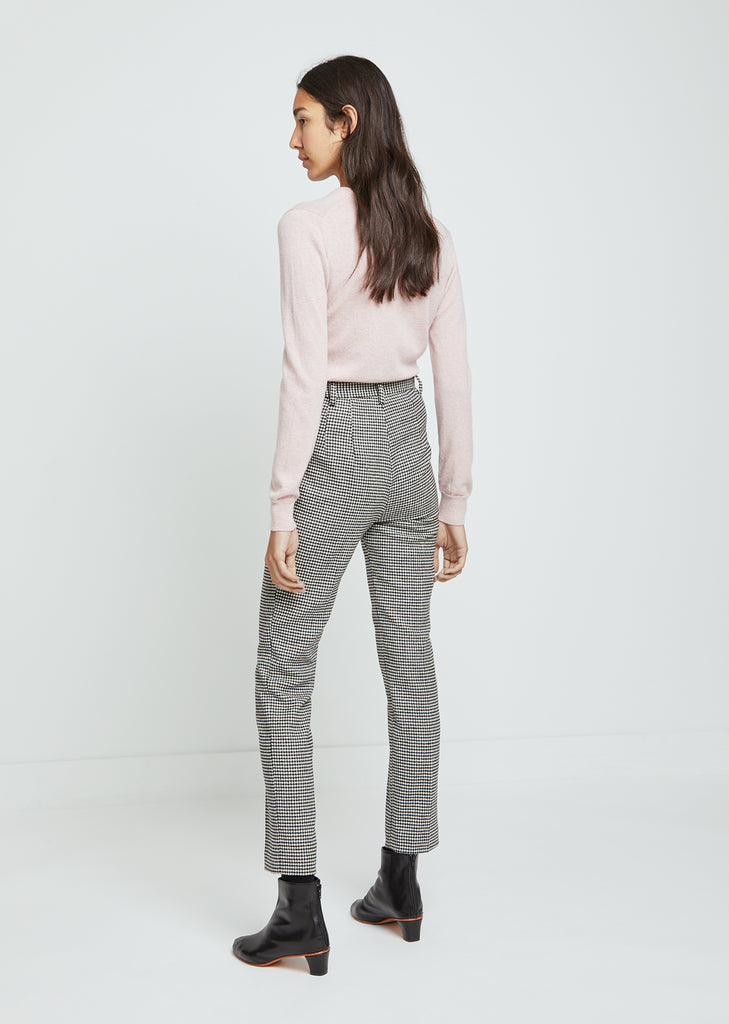 Houndstooth Straight Leg Pants