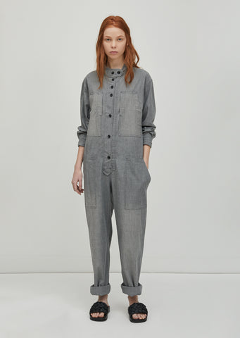 Lucia Chambray Overalls
