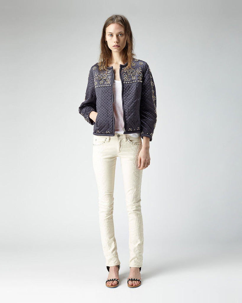 Galix Embroidered Skinny Jean