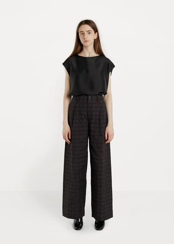 Crumbled Grid Pant