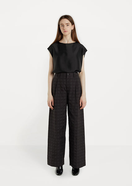 Crumbled Grid Pants