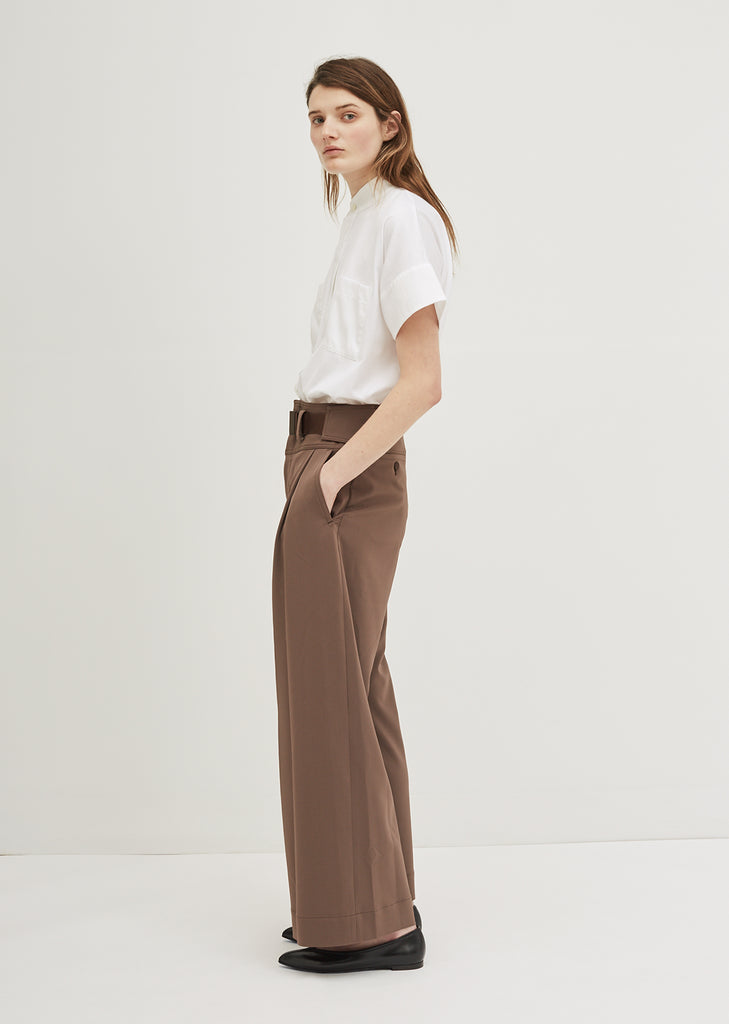 Overlap Bottoms Solid Pants