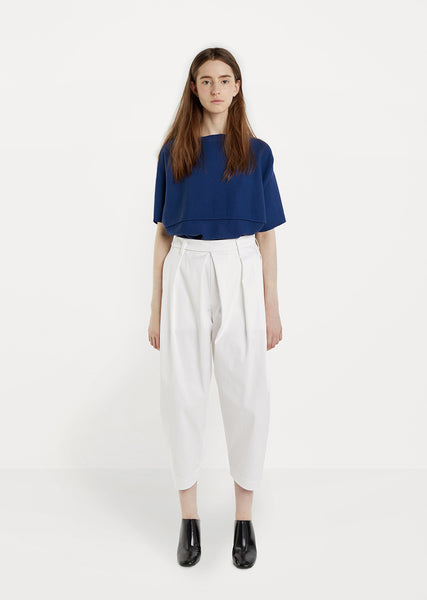 Cropped Cotton Stretch Pants