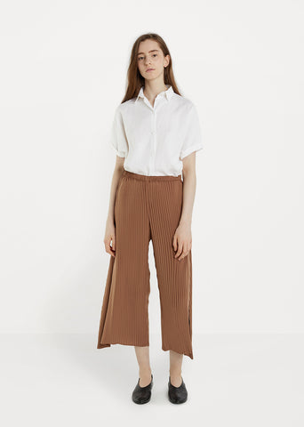 Tribal Pleats Solid Pants