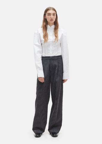 Big Wool Stripe Trousers
