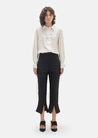 Wool Split Front Trousers