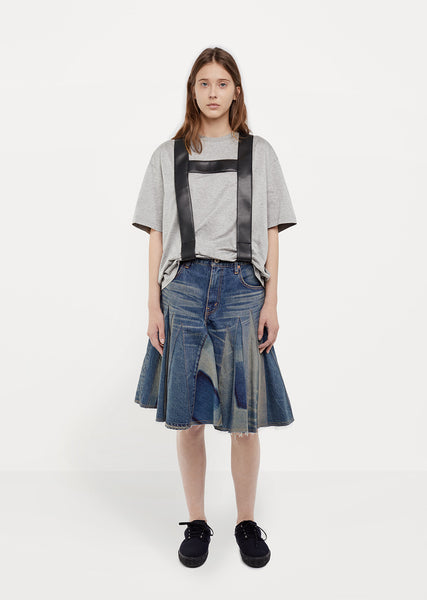 Garment Treated Denim Skirt