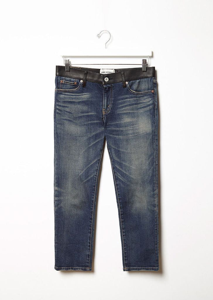 Leather Waist Denim