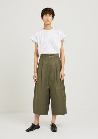 Canvas Wide Leg Pants