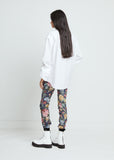 Flower Print Stretch Denim