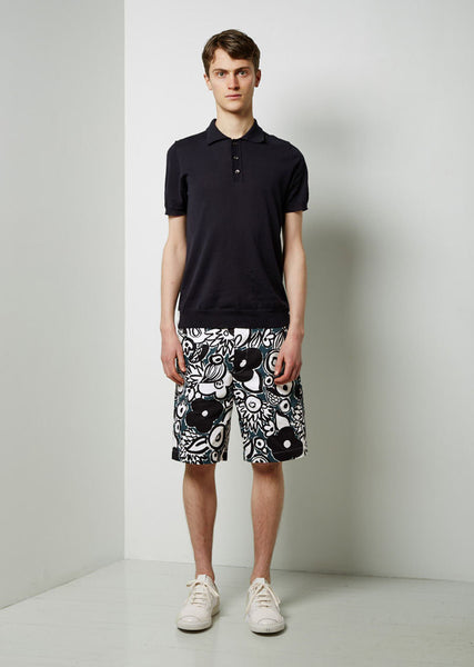 Marni Printed Cotton Shorts La Garconne