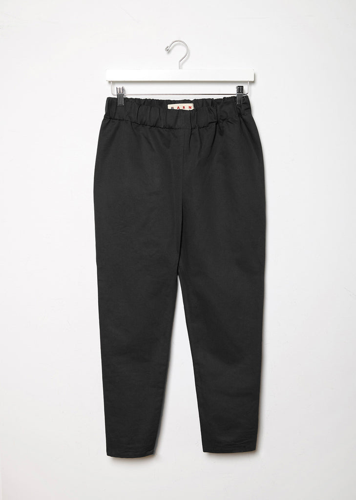 Cotton & Linen Blend Pull-On Trouser