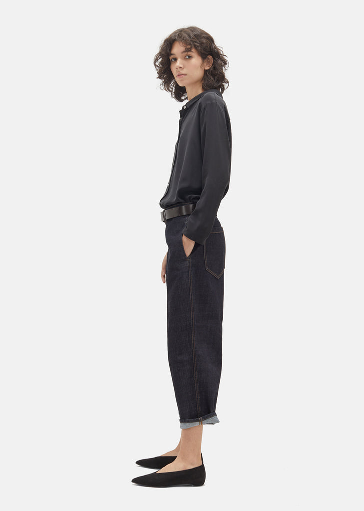 Indigo Wide-Leg Trouser