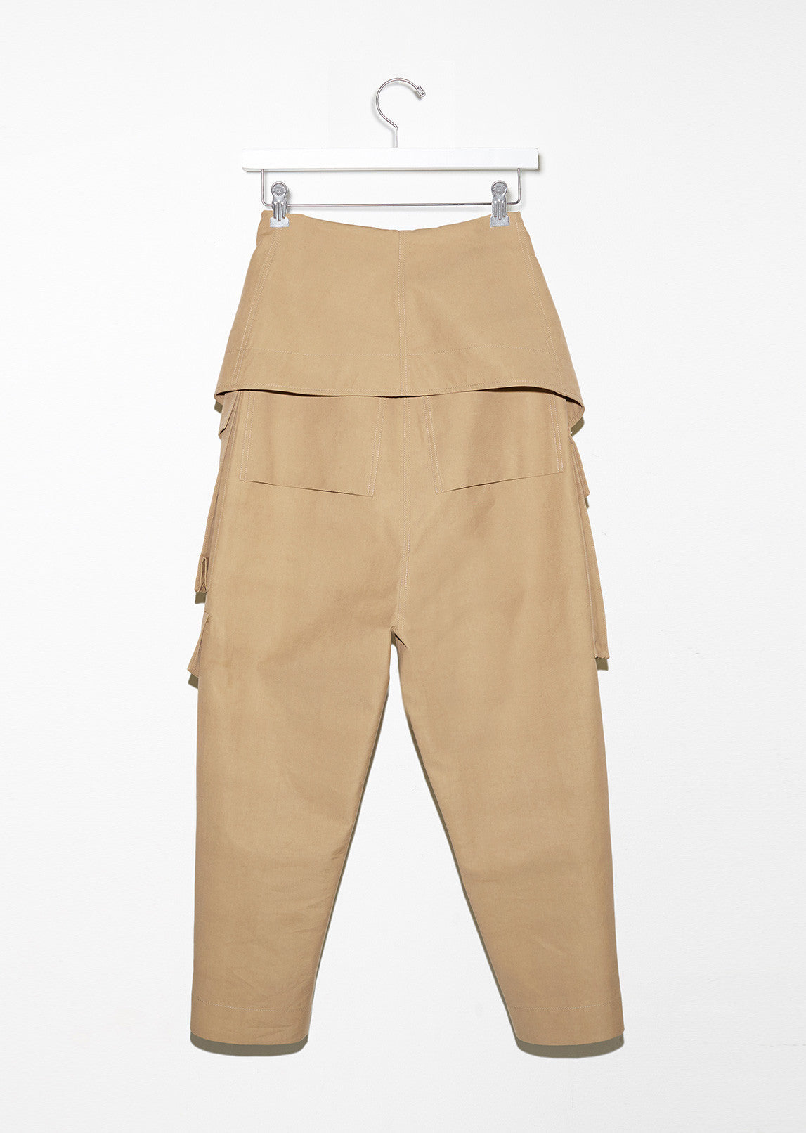 Folded Waist Cargo Trousers
