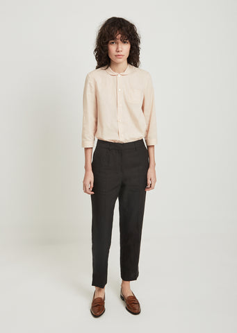 Linen Cropped Trousers