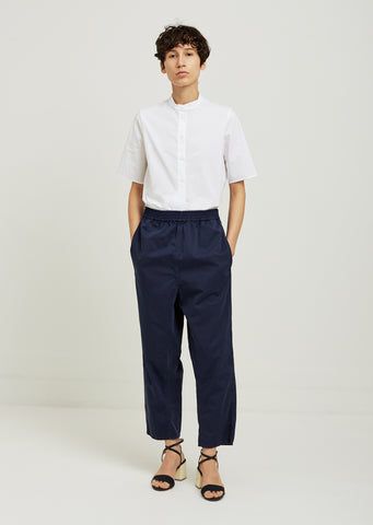 Cotton Satin Garment Dyed Pants