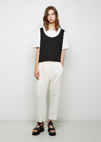 Cropped Viscose Trouser