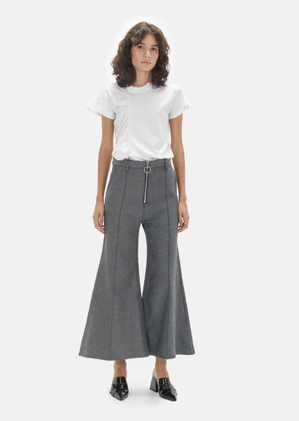 Raw Twill Denim High Waisted Flares