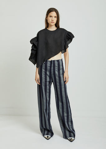 Stripe Boyfriend Trousers