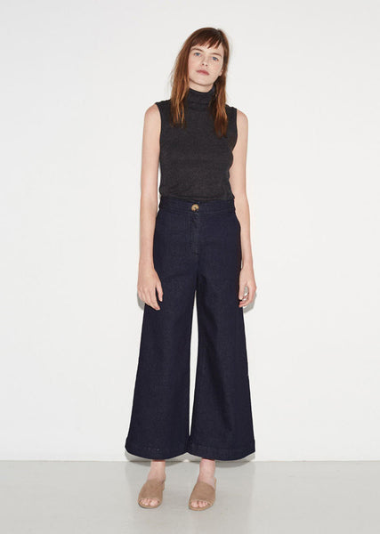 M. MARTIN Denim Crop Wide Leg La Garconne