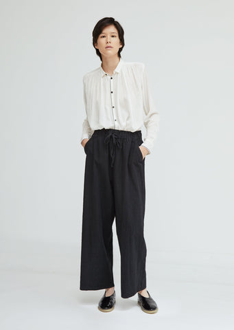 Cotton Hemp Drawstring Pants