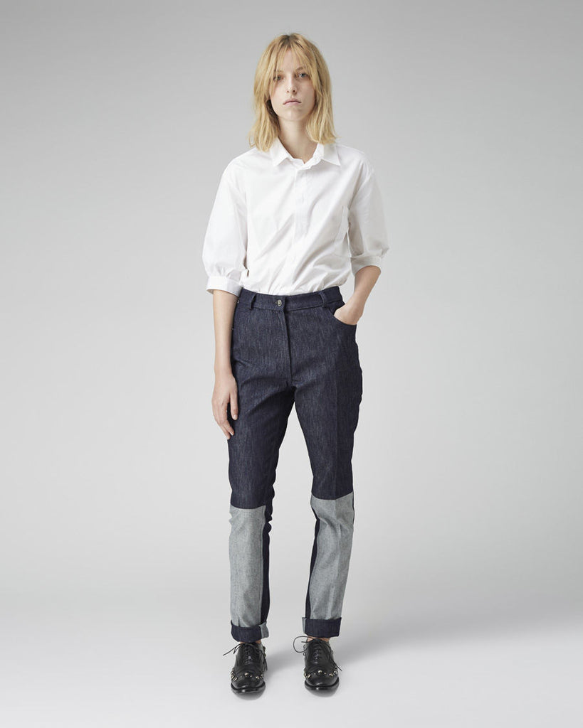 High-Waisted Contrast Jean