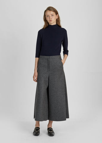 Wool High Waisted Trouser