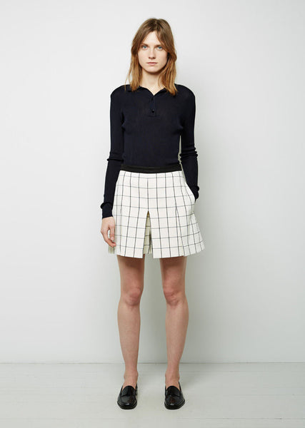 Proenza Schouler Windowpane Pleated Short La Garconne