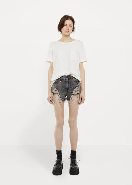 Shredded Slouch Shorts