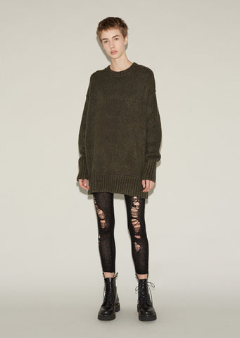 Ripped Cashmere Leggings