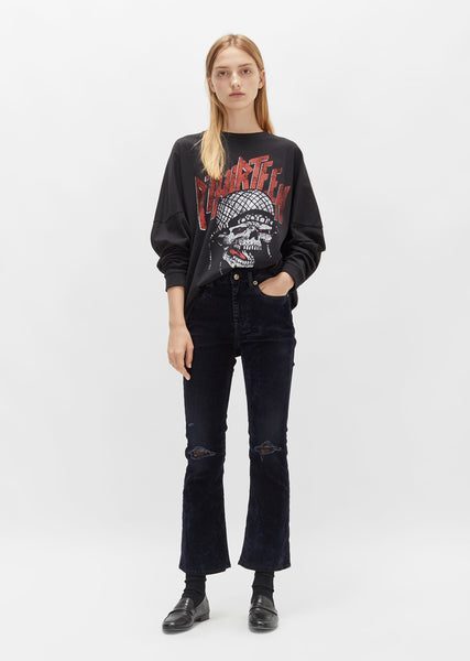 Kick Fit Blue Velvet Jeans