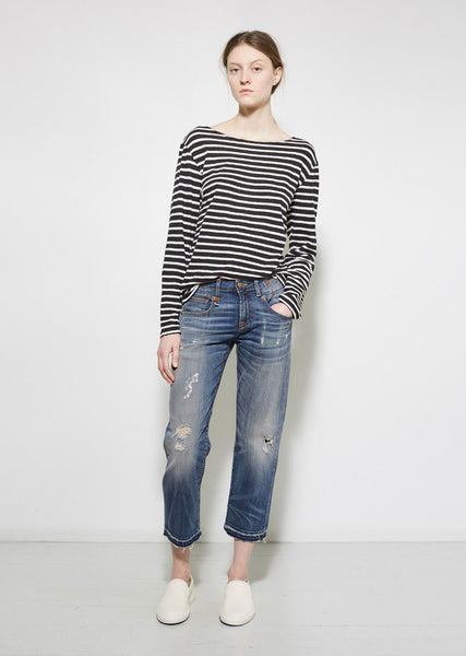 R13 Straight Boy Cropped Jean La Garconne