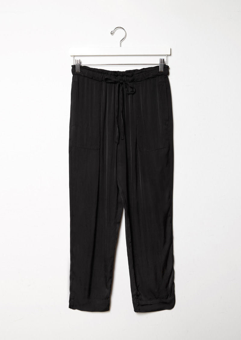 Liquid Satin Drawstring Pant