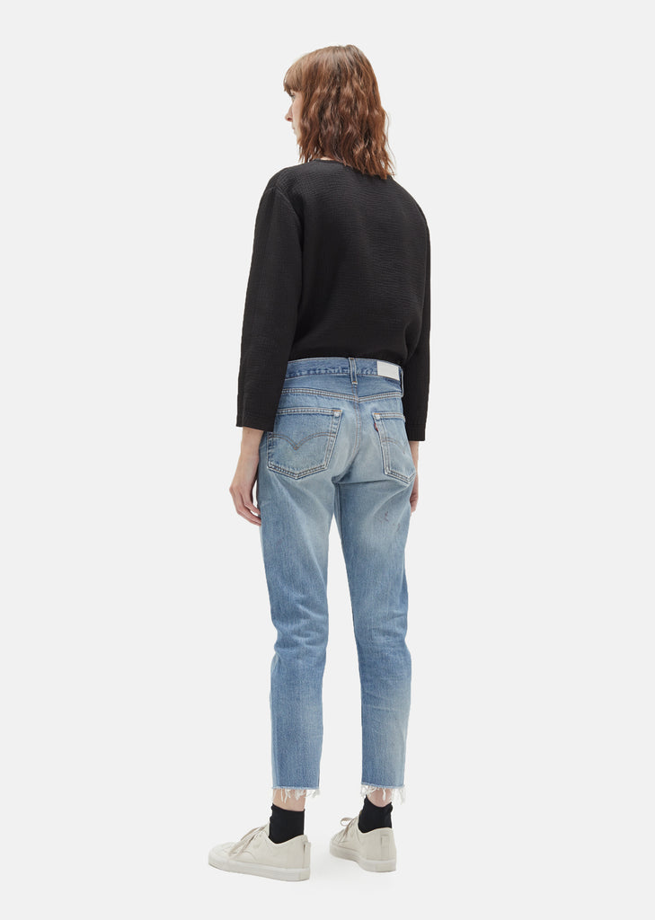 X Levi's Relaxed Crop Two Tone Denim