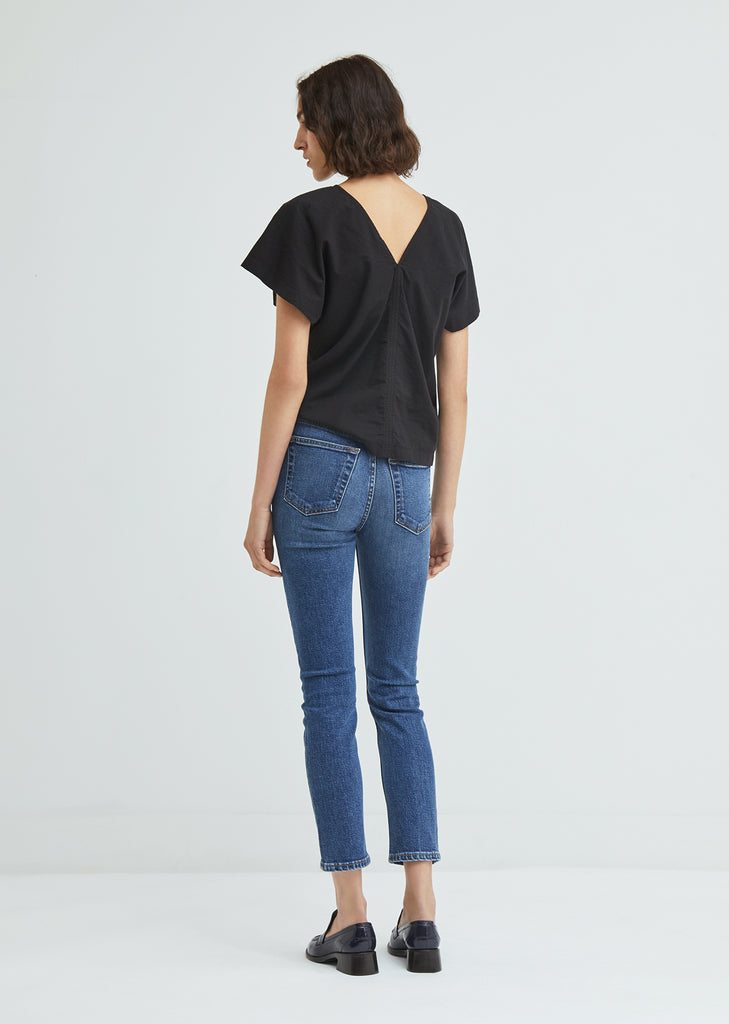 Stretch Ankle Crop Skinny Jeans