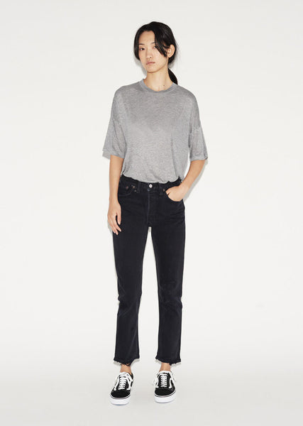 RE/DONE High Rise Ankle Crop Jean La Garconne