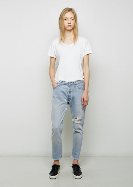 RE/DONE Relaxed Crop Shred Jean La Garconne