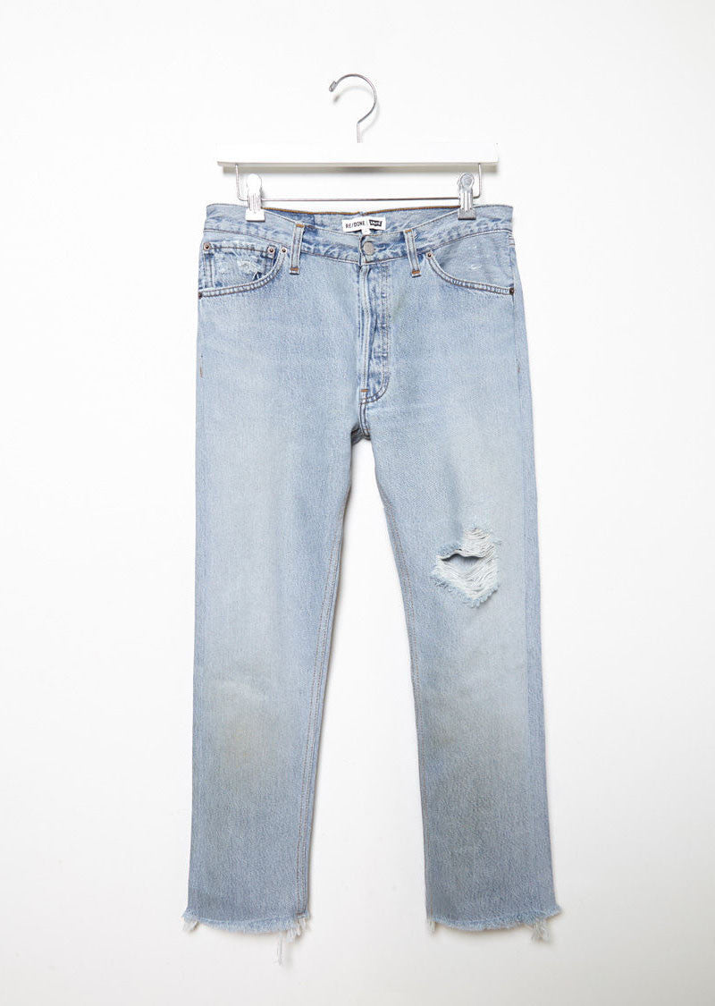Relaxed Crop Shred Jean